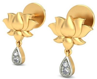JPearls Yellow Gold 18kt Diamond Drop Earring