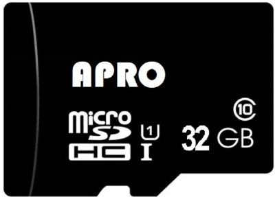 Apro Ultra Xdisk 32 GB MicroSDHC Class 10 20 MB/s  Memory Card