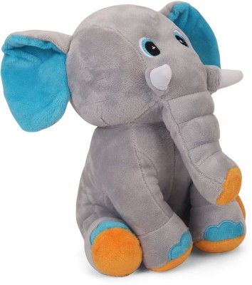 My Baby Excels Baby Elephant with Colourful Ears - 24 cm - Grey Colour  - 24 cm