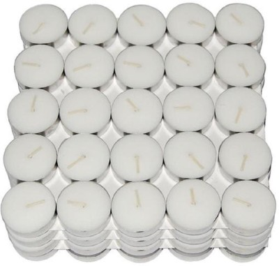 Kala Decorators Smokeless Tea Light Candle(Pack of 100 Pcs ) (Paraffin Wax )for Wedding,Festival,Party Candle