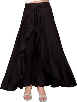 Hunny Bunny Solid Girls Wrap Around Black Skirt