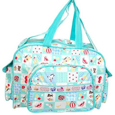 Guru Kripa Baby Products ™ Presents New Born Baby Multypurpose Mother Bag With Holder Diapper Changing Multi Comprtment For Baby Care And Maternity Handbag Messenger Bag Diaper Nappy Mama Shoulder Bag Diaper Bag For Baby Multipurpose Waterproof Mother Bag Diaper Bag (Green) New Born Baby Mother Bag/Diaper Bag