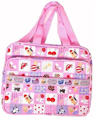 Guru Kripa Baby Products New Born Baby Multipurpose Mother Bag With Holder Diapper Changing Multi Comprtment For Baby Care And Maternity Handbag Messenger Bag Diaper Nappy Mama Shoulder Bag Diaper Bag For Baby Multipurpose Waterproof Mother Bag Diaper Bag (Pink) New Born Baby Mother Bag/Diaper Bag