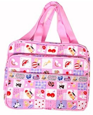 Guru Kripa Baby Products ™ Presents NEW BORN BABY MULTIPURPOSE MOTHER BAG WITH HOLDER DIAPER CHANGING MULTI COMPARTMENT FOR BABY CARE AND MATERNITY HANDBAG MESSENGER BAG DIAPER NAPPY MAMA SHOULDER BAG DIAPER STORAGE TRAVELLING CARE DESIGNER MULTIPURPOSE MOTHER BAG/DIAPER BAG FOR BABY DESIGNER MULTIPURPOSE WATERPROOF MOTHER BAG/DIAPER BAG (PINK) New Born Baby Mother Bag/Diaper Bag