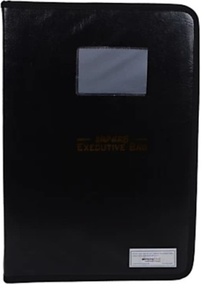 Tlo office file Faux leather Chain covered 12 sheet A4 size folder