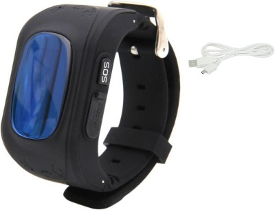 Bluebells India ™Q50 GPS Smart Watch kids SOS Call Location Finder Locator Tracker Child Anti Lost Monitor Baby Chirldren Wristwatch Black Smartwatch
