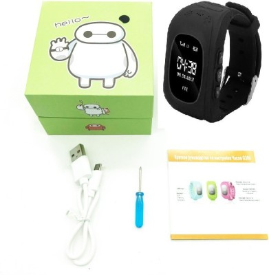 Bluebells India ™Q50 GPS Kids Watches Baby Smart Watch for Children SOS Call Location Finder Locator Tracker Anti-Lost Monitor Black Smartwatch