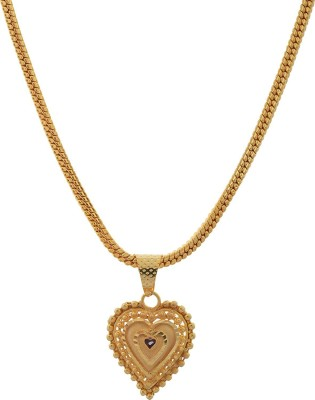 Jewelstone Gold Plated Pendant for Women (Golden) (hk-apg-804) Gold-plated Plated Alloy Chain