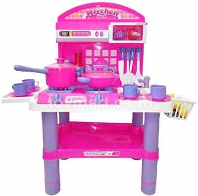 J K INTERNATIONAL Kitchen Super Set Pretend & Play with Light & Music