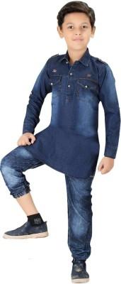 XBOYZ Boys Festive & Party Pathani Suit Set