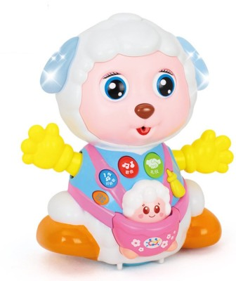 YAMAMA Baby Toys Record and Play Interactive Electric Toy Sheep Kids Early Learning Educational Toys with Music & Lights