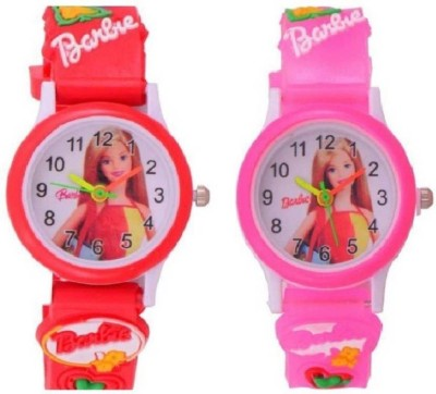 bright arts NEW GENERATION ANALOG BARBIE PINK AND RED WATCH FOR KIDS ( BOYS AND GIRLS ) WITH THE BEST DEAL AND FAST SELLING Watch  - For Girls