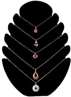 SYGA High-end Velvet Jewellery Hanging Necklace Pendant Display Board Rack_Black Jewellery Organizer