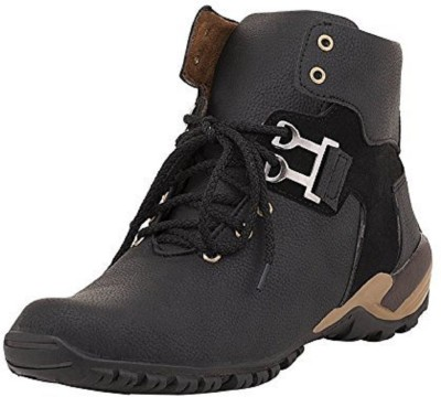 Deals4you Men And Boys Casual Stylish Synthetic Leather Boots Shoes Boots For Men