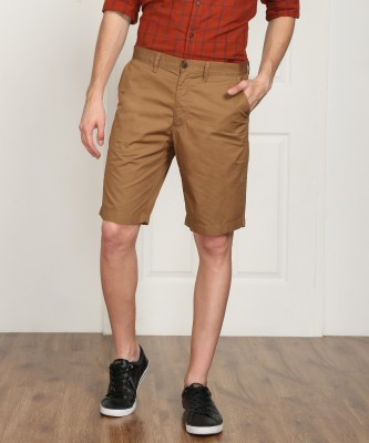 Indian Terrain Solid Men's Brown Chino Shorts