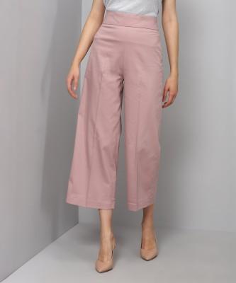 Van Heusen Regular Fit Women's Pink Trousers