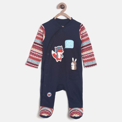 Mini Klub Baby Boy's Dark Blue Sleepsuit