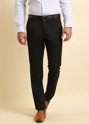 Arrow Regular Fit Men's Black Trousers