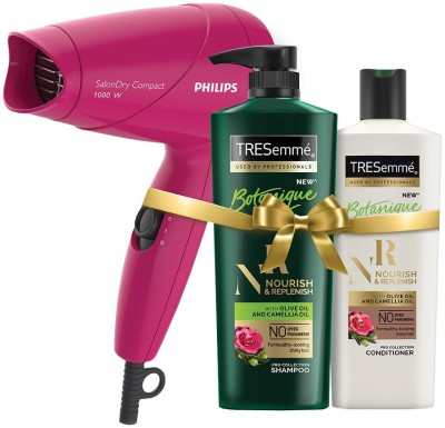 TRESemme Nourish & Replenish Shampoo and Conditioner Plus Philips Hair Dryer