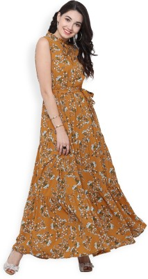 Tokyo Talkies Women Maxi Yellow Dress