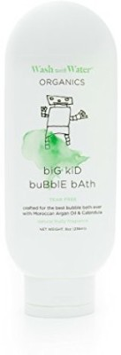 Wash with Water All Natural Organic Skin Care Bath Bubbles Certified Organic + Cruelty Free, Hypoallergenic + Gentle Kids, Toddler + Baby Bubble Bath For Eczema + Sensitive Skin - Passion Fruit 8Oz
