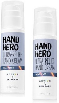 Generic Bath And Body Works 2 Pack Active Skin Care Hand Hero Ultra-Relief Hand Cream 5 Oz.