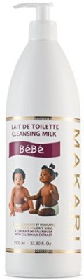 Generic MAKARI Baby Cleansing Milk 33.8 Fl. Oz. - Soothing, Moisturizing Bath Time Body Wash - Gentle, Non-Irritating Formula Hydrates, Softens, Heals & Protects Delicate Skin - Includes Easy Dispenser