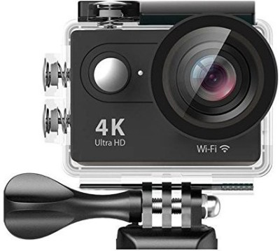 Czech Powershot 4K Ultra HD 12 MP WiFi Waterproof Digital Action & Sports Body only Sports & Action Camera (Black) Sports and Action Camera