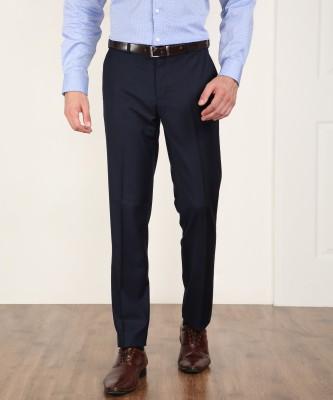 Raymond Jacob Slim Fit Men's Dark Blue Trousers