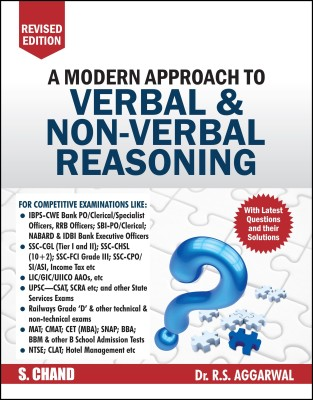 A Modern Approach to Verbal & Non - Verbal Reasoning - Includes Latest Questions and their Solutions