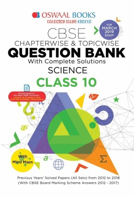 Oswaal CBSE Question Bank For Class 10 Science (Mar 2019 Exam)