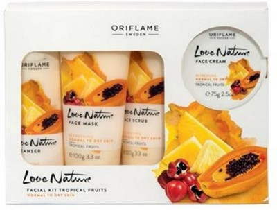 Oriflame Sweden Love Nature Facial Kit Tropical Fruits