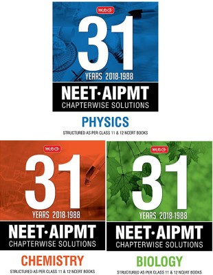 31 Years NEET-AIPMT Chapterwise Solutions - Physics, Chemistry & BiologY