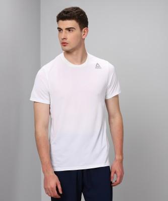 REEBOK Solid Men's Round Neck White T-Shirt