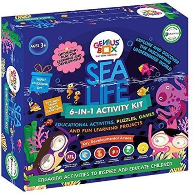 Genius Box Learning and Educational Toys for Children: Sea Life Activity Kit / Educational Kit / LEARNING TOY/ STEM