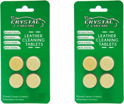 CRYSTAL CAR CARE LEATHER CLEANING TABLETS CCCLCT054 Vehicle Interior Cleaner