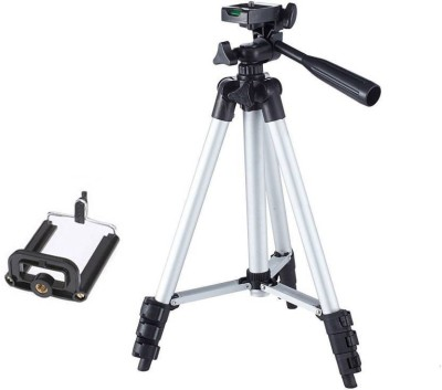 CRAZYINK Tripod-3110 Portable Adjustable Aluminum Lightweight Camera Stand With Three-Dimensional Head & Quick Release Plate and Mobile phones Tripod