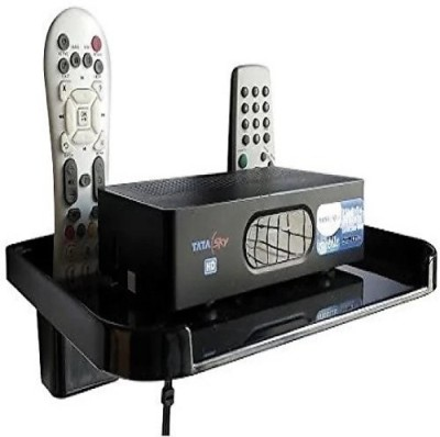 ALPHA.SM SET TOP STAND WITH REMOTE HOLDER Acrylic Wall Shelf