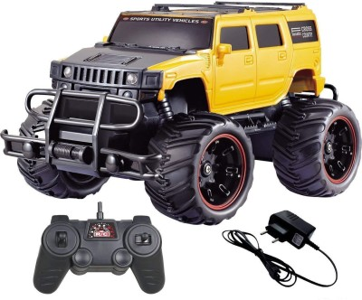 Miss & Chief Big and Mean Rock Crawling 1:20 Scale Modified Off-Road Hummer RC Car/Monster Truck (Off-Road Yellow)