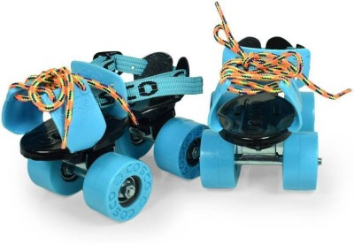 Cosco Zoomer Roller Skates ( For Kids Only ) ( Color on Availability) ( Age Group - 3 To 5 Years Only) Quad Roller Skates - Size 16.6-18.6 UK