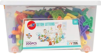 Planet of Toys 200pcs. Stem Education Series Blocks in box with wheels