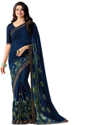 Bombey Velvat Fab Printed Daily Wear Georgette, Chiffon Saree