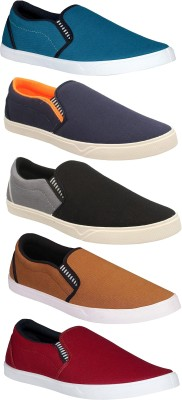 Chevit Combo Pack of 5 Casual & Sports Shoes (Loafers Shoes) Casuals For Men
