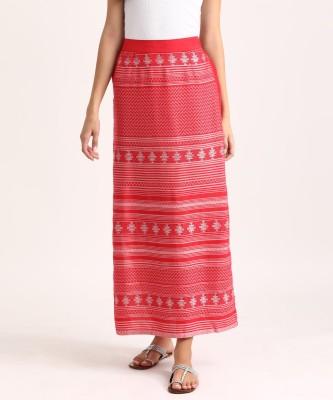 Aurelia Solid Women Tube Maroon Skirt