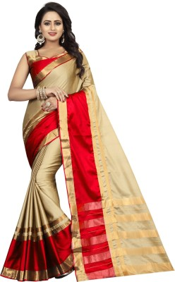 Villagius Self Design Fashion Cotton Silk Saree