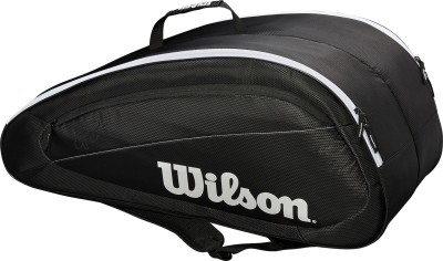 Wilson FEDERER TEAM 12PK - BLACK/WHITE Racquet Bag