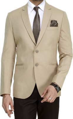 ManQ Solid Single Breasted Wedding, Formal, Party, Casual Men's Blazer