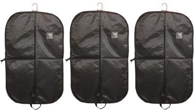 kuber industries Rexene Men's Coat Blazer Cover (Black) Set of 3 Pcs Regular Organizer