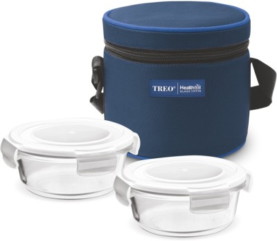 Treo Health First Glass Tiffin 2 Containers Lunch Box
