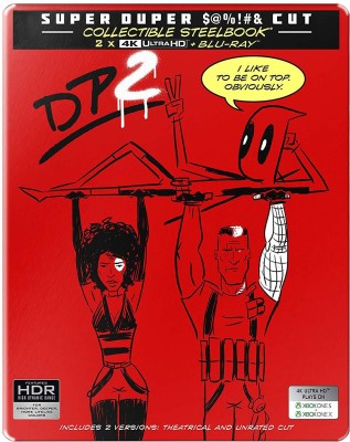 Deadpool 2 + Super Duper Cut (Unrated) (Steelbook) (4K UHD & HD) (3-Disc)